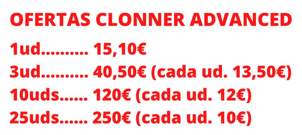 ofertas clonner advanced